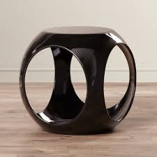 selection home furniture modern design. Stylish Small Round End Table Ideas Featuring Drum Shaped And Dark Brown Polished Acrylic Selection Home Furniture Modern Design E