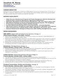 Enterprise Application Manager Resume Best Job Objectives For Resume