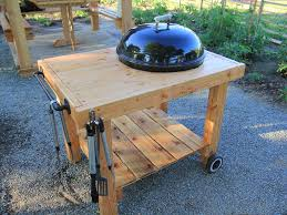 diy weber grill cart bbq station