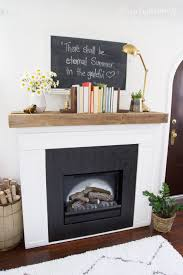 white brick fireplace with wood mantle image collections