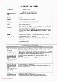 Resume For Fresh Graduate Business Administration New Resume Sample