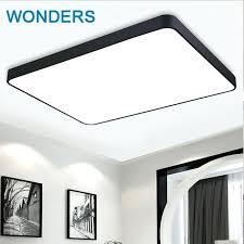 diy ceiling light black white contracted iron square ceiling light living room bedroom light restaurant decoration diy ceiling light