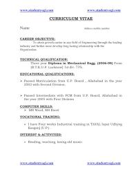 10 Resume Samples For First Job Budget Template Letter Old Format