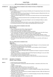 Download Retail Operations Coordinator Resume Sample as Image file