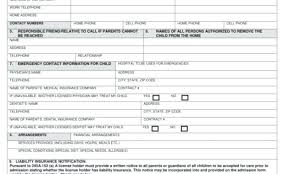Emergency Form For Daycare Free Printable Preschool Registration Forms Daycare