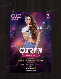 Club Flyer Templates Free Dirty Club Free Psd Flyer Template Free Psd Flyer