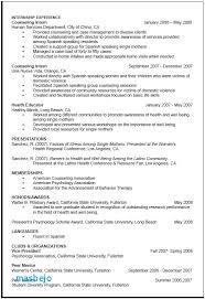 Psychology Graduate School Resume Examples Resume For Grad School Cv