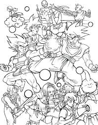 Dragon Ball Z Coloring Sheet Coloring Pages Dragon Ball Z Coloring