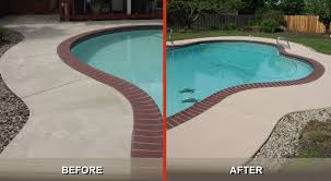concrete paint around pool 3 ideas for a stunning stamped concrete pool deck gwc decorative