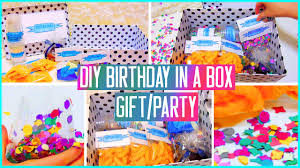 diy birthday in a box throw a mini party for your friend gift idea you