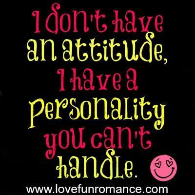 attitude status about me in english