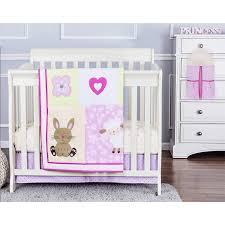 dream on me naptime friends 4 piece reversible portable crib bedding set com
