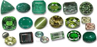 Rock And Gem Identification Chart Green Gemstones List Of Green Precious Semi Precious