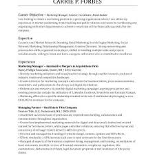 Sample Resume Objectives For Sales And Marketing New Resume ...