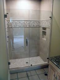 bathroom glass shower door seal natural brown cherry wood wall mounted cabinet incredible frameless doors designs