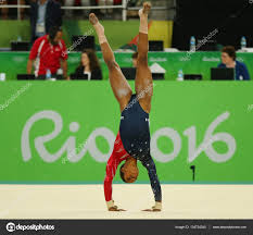 floor gymnastics gabby. RIO DE JANEIRO, BRAZIL - AUGUST 7, 2016: Olympic Champion Gabby Douglas Of United States Competes On The Floor Exercise During Women\u0027s All-around Gymnastics C