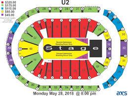 Infinite Energy Arena Seating Chart U2 Elcho Table