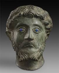 Bronze head of Marcus Aurelius, AD 161-180 (AN2011.46). Other examples of objects from the east midlands in the Ashmolean's collections include: - AN2011-46-med