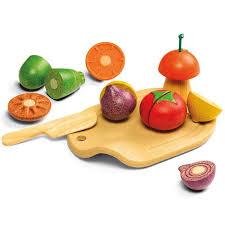 Fruits Et Légumes à Découper Des éléments En Bois Pour Découper