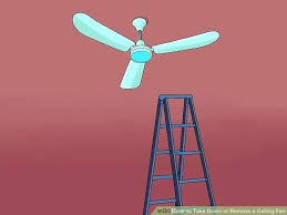 remove ceiling fan image titled take down or remove a ceiling fan step 3 how to