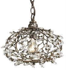 9003 currey and co dream pendant powder room pendant light with crystals