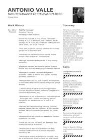 Facility Manager Resume Samples Cover Letter For Recreation Center Manager Facilities Manager