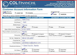 basic personal information form col me joey how to properly fill out col forms
