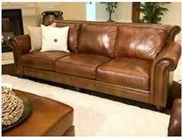paladia top grain leather sofa in