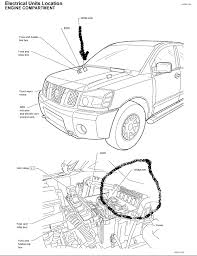 2004 nissan titan the fuel pump relay and how is it identified