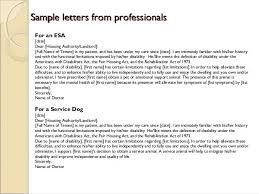 Emotional Support Animal Letter Template Esa Prescription