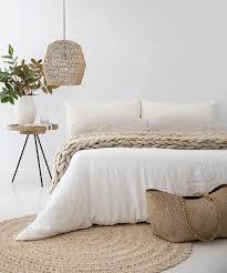 Schlafzimmer Einrichten Dekorieren Naturtöne Und Weiß Schöne Lampe