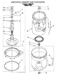 whirlpool wiring diagram wirdig llr9245bq1 direct drive washer agitator basket and tub parts diagram