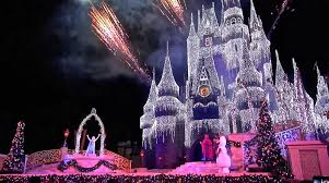 Castle Christmas Lights A Frozen Holiday Wish 2014 Cinderella Castle Christmas