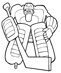 Small Picture Hockey Coloring Page Huge Goalie