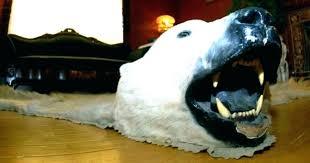 faux bear skin rug with head strikingly fake polar beauteous com bearskin impressive for nurs