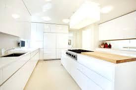 modern kitchen design 2012. White Modern Kitchen Cabinets With Hidden Fridge And Butcher Block Design 2012