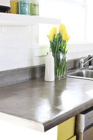 Yellow Kitchen Countertops Concrete Countertop Diy A Beautiful Mess