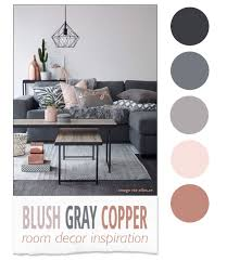 Small Picture Blush Gray Copper Room Decor Inspiration Room decor Gray and