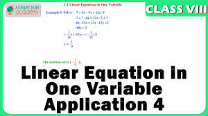 linear equation in one variable 4 maths class viii cbse isce ncert you