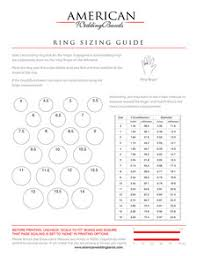 Ring Size Chart For Men And Women Wedding Rings And Wedding