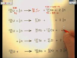 fission and fusion equations
