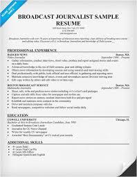 Journalism Internship Cover Letter Broadcasting Internship Resume Sample Cover Letter