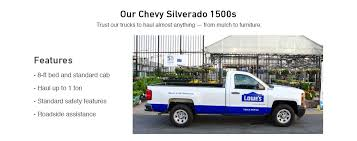 Pickup Truck Rentals at Lowe's