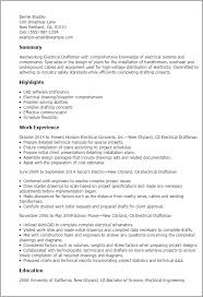 Sample Autocad Drafter Resume Professional Electrical Draftsman Templates To Showcase Your