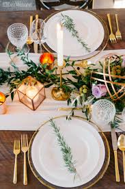 Rustic Table Setting Decor With Copper And Greenery Vineyard