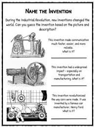 industrial revolution facts information worksheets the invention