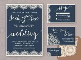 Rustic Wedding Invitation Design Template Include Rsvp Card