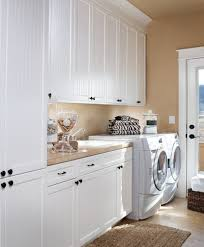 Interior:Neat Open Laundry Room Idea With White Storage Cabinets And  Ceiling Track Lights Minimalist