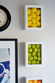 diy faux produce shadow boxes