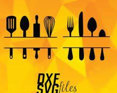 kitchen utensils split silhouette. Modren Split Kitchen Utensil Designs  Pinterest Cutting Files Utensils And  Utensils Throughout Split Silhouette I
